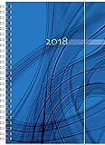 Brunnen 107918001 Buchkalender Modell 791 Opus, 2 Seiten = 1 Woche, 148 x 210 mm, PP-Einband blau, Kalendarium 2018 - Baier & Schneider GmbH & Co.KG