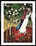 1art1® Marc Chagall Poster Reproduction et Cadre (Plastique) - Les Trois Bougies I (50 x 40cm)