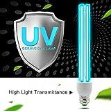 AMZTOLIFE - UV Ozon Sterilisation Lampe - UV Desinfektionslampe - uv Lampe Desinfektion Antibakteriell Rate 99% keimtötende Lichter für Badezimmer, Schlafzimmer, Küche, Büro, Hotel