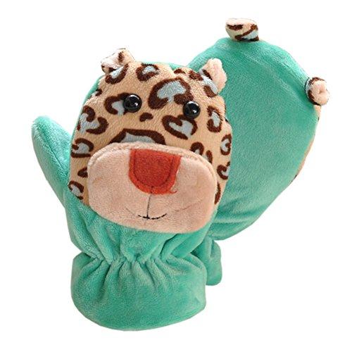 1 Pair Kids 'Winter Glove Darmzotte Mittens Haling Hände(0-3 Years)Giraffe grün