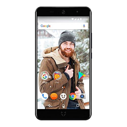 Wileyfox Swift 2 Plus - 5-Zoll-HD Display - 32GB interner Speicher + 3 GB RAM Speicher (Dual-SIM-Funktionalität 4G) SIM freies Smartphone Android Nougat 7.1.1  - Mitternachtsblau -