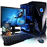 "VIBOX Sharp Shooter Water Cooled Desktop Gaming PC Package 10 - with WarThunder Game Bundle, 22"" Monitor, Headset, Gamer Keyboard & Mouse (4.2GHz AMD FX Eight Core Processor, Nvidia Geforce GTX 960 Graphics Card, 120GB Solid State Drive SSD, 2TB Hard Drive, 16GB RAM, Blue Gamer Case, No Operating System)"