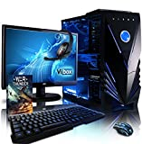 Vibox VBX-PC-1100 Sharp Shooter Paket 10 54,6 cm (21,5 Zoll) Gaming Desktop-PC (AMD Phenom Quad Core FX-8350, 16GB RAM, 2120GB HDD, NVIDIA Geforce GTX 960, kein Betriebssystem) blau