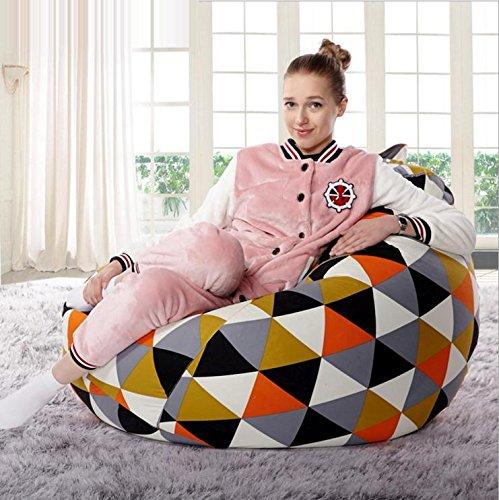 bean bag en toile de coton canapé-lit paresseux liberté créative pour ajuster la posture décontractée matériau imperméable est doux et confortable , 4 1