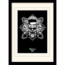 "Breaking Bad "", 30 x 40 cm, motivo:"" Obey Heisenberg "", stampa incorniciata e montata"