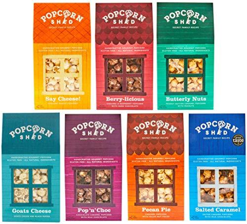 Popcorn Shed 7 Selection Pack - El regalo perfecto de palomitas de maíz - Popcorn Taster Pack