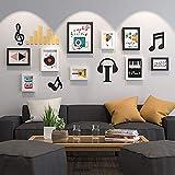CQSMOO Mauer Skulptur Foto Wand, Wohnzimmer Schlafzimmer kreative Foto Wand europäischen Stil Foto Frame Persönlichkeit by (Farbe : B Black+White)