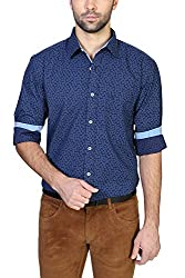 Allen Solly Mens Casual Shirt (8907467021260_AMSF316G03997_44_Dark Blue and Red)