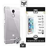 Xiaomi Redmi Note 3 Combo of 1 Back Cover + 1 Tempered Glass + 1 OTG Adapter