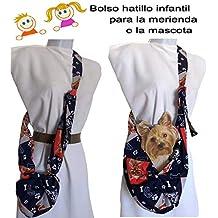 Bolso bandolera transportín mascota Azul perritos Para Chiguagua, Bichon, Yorkshire, etc. hasta
