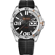 Boss Naranja para hombre-reloj analógico de cuarzo de Berlín de silicona 1513285