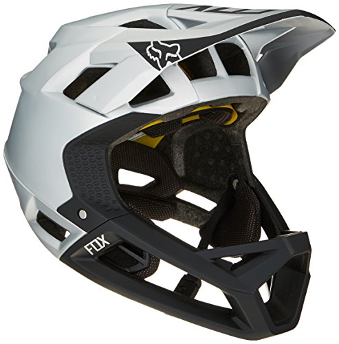 Fox Herren Proframe Moth MTB Fullface Helm, Black/Silver, M (57-58cm)
