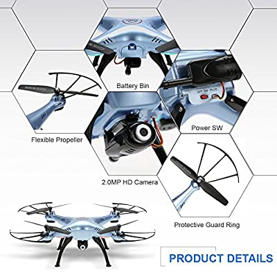 GoolRC X5HW Wifi FPV Drone with 0.3MP Camera Live Video Drone Altitude Hold Function RC Quadcopter with 3D Flips