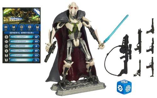 Star Wars Hasbro Figuras saga Legends SL09 General Grievous - Figura de acción de La Guerra de las Galaxias con carta de juego