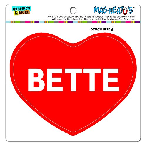 Price comparison product image MAG-NEATO'S(TM) Car Refrigerator Vinyl Magnet I Love Heart Names Female B Beth - Bette