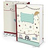 Blau türkis XXL Babytagebuch ELEFANT AUTO Junge Mädchen Baby Tagebuch Erstes Jahr Buch Babybuch Geschenk Eltern Geburt Kindertagebuch DIN A4 Kinderbuch Taufe Kinder-Geburtstag