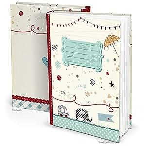 blau t rkis xxl babytagebuch elefant auto junge m dchen baby tagebuch erstes jahr buch babybuch. Black Bedroom Furniture Sets. Home Design Ideas
