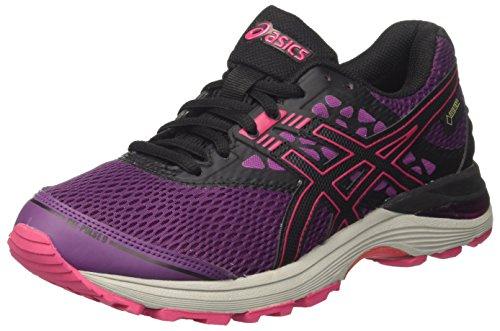 ASICS Gel-Pulse 9 G-TX, Scarpe da Running Donna, Multicolore (Prune/Black/Cosmo Pink), 36 EU