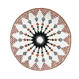 AchidistviQ Krabbeldecke für Babys, rund, geometrische Muster Multi