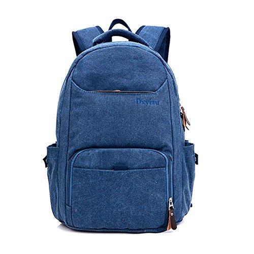 Rucksack 50L High Capacity Laptop Tasche Retro Leinwand Student Sport Outdoor Rucksack royal blue