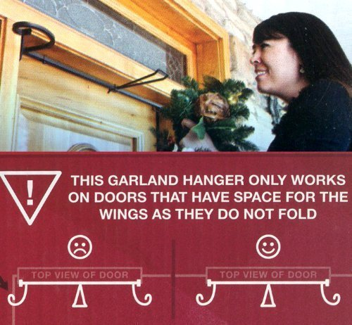 Adjustable EZ Christmas Garland Hanger For Single Doors 34