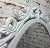 Espejo-de-pared-rstico-ovalado-80-x-60-cm-con-Marco-blancas-adornado-0119301