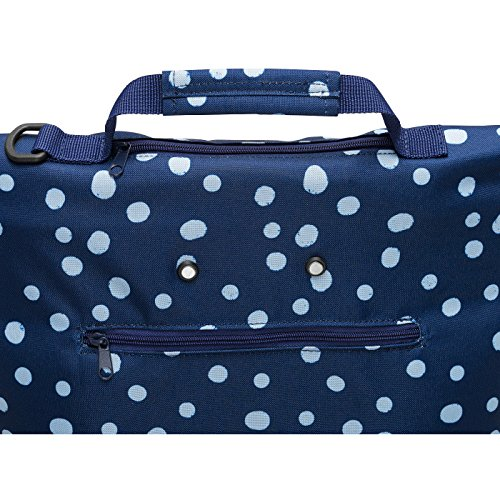 Reisenthel Trolley M, Borsa shopping, Carrello spesa rotolo, grigio talpa barocco, NT7027 - artista strisce spots navy