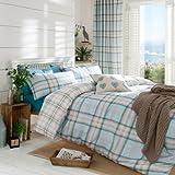 Catherine Lansfield Kelso - Ropa de cama, diseño de cuadros, color azul, materiales sintéticos, azul pastel, matrimonio
