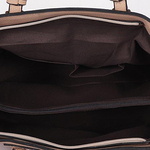 Butterflies Women Handbag (Khaki) (BNS 8097#KHK)