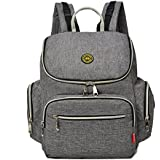 Yoovi Large Capacity Multifunction Mummy Bags Diaper Tote Backpack With Changing Mat &Insulated Bag