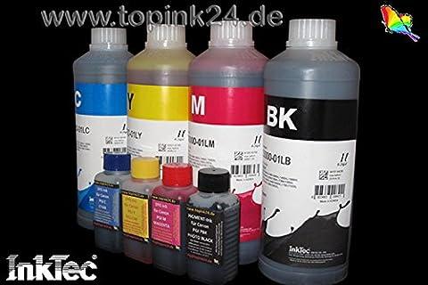 InkTec, encre de pigmentation, encre de recharge Recharge, 750ml, encre Refill Ink d'encre pour cartouches d'encre BK K Noir Noir Canon pgi-1500pgi-2500XL Maxify iB 4000, IB 4050, Mo 2000, Mo 2050, Mo 2300, Mo 2350, Mo 5000, Mo 5050, MB 5300, MB 5350, Maxify iB4050, MB2050, MB2350, MB5050, MB5350pas de 01L/No OEM c5000d _ 750ml 400ml 4x100 4Color