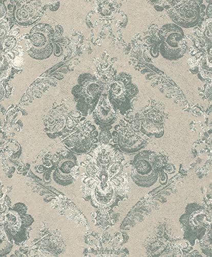 Rasch Textil 228969 Vlies-Tapete Kollektion Palau Grün, Oliv, Mint
