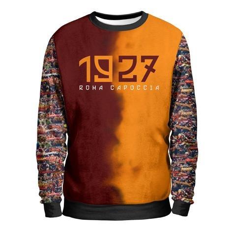1927Sudadera Hombre–Roma Summae Civitas Sweatshirt Man–Curva Sud ultras Estadio Olimpico Fútbol as roma 1927Camiseta multicolor L