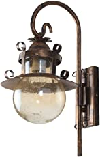 LeArc Designer Lighting : WL1976 : Wrought Iron with Rustic Finish Wall Lights (Brown)