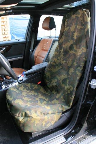 2 T-SHIRT PARAFANGO ANTERIORE NERO PROTEZIONE COPERTURE SEDILE AUTO PER MINI PACEMAN