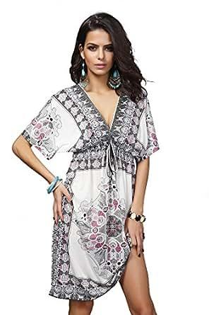 Robe d 39 et robe de plage ample blouse taille plus sexy v profond pour femme - Tenue plage femme ...