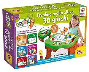 Lisciani Giochi - 77458 - Juego para niños Carotina Mesa Muy Activa, 30 Juegos, edición 2019