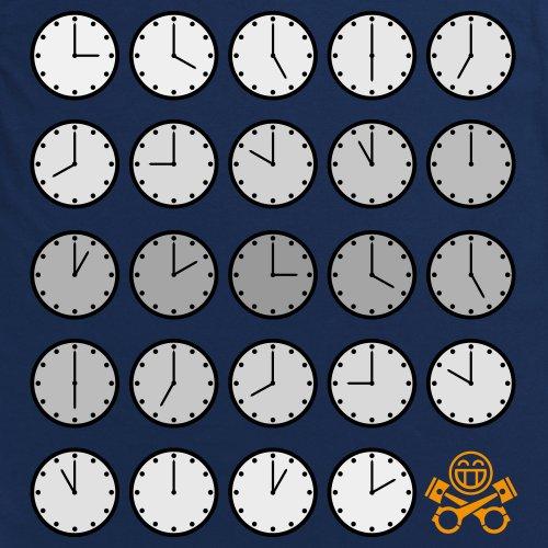 PistonHeads PHLM14 Clocks T-Shirt, Herren Dunkelblau