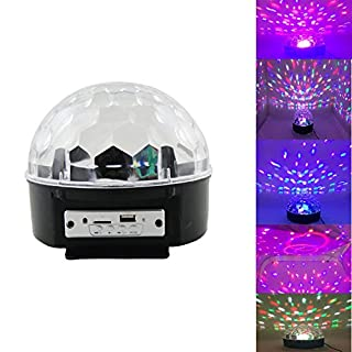 VStoy Disco DJ Stage Lighting LED RGB Crystal Magic Ball DMX light KTV Christmas Party With MP3 Bluetooth Loudspeaker Memory Card Wireless Presenter function