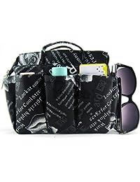 Periea Handbag Organiser LARGE 13 Compartments + FREE key clip, Black-Marina