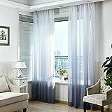 Tonsee Schürzen Tüll Voile Tür Fenster Gradient Vorhang Tuch Teiler Dekor (Grau)