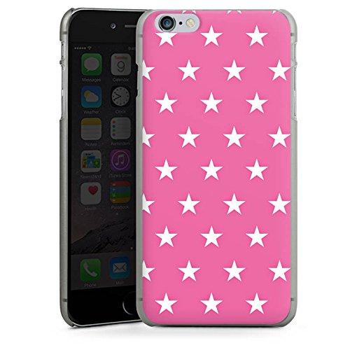Apple iPhone 5s Housse Étui Protection Coque Polka étoiles Rose vif Motif CasDur anthracite clair