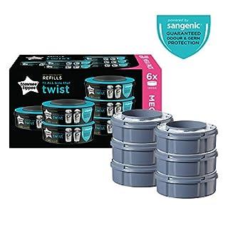 Tommee Tippee Sangenic Recambios Sistema avanzado para desechar pañales Twist & Click, paquete de 6 (compatibles con los contenedores Sangenic TEC y Twist and Click) (B07KBC3VQ7) | Amazon Products