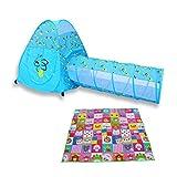 Laufgitter laufstall Kids Ball Pit Laufstall Ballzelt Pool mit Matte/Pad - Indoor/Outdoor-Zelt für Kleinkinder Kinder, Pink/Blau (Farbe : Blau)