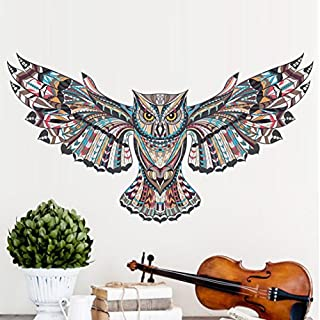 erthome Eagle Owl Animal Room Household Beauty Wall Sticker Mural Decor Decal Removable 78cm*45cm
