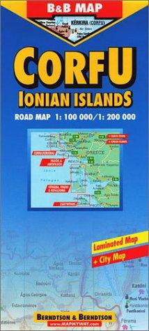 Preisvergleich Produktbild B&B Korfu 1:100 000. Road Map. Laminierte Straßenkarte.