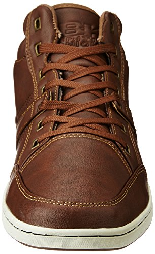 British Knights RE-Style Mid Hommes Baskets Montante COGNAC
