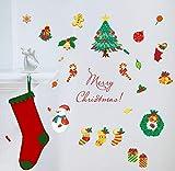 CczxfccAdesivi Murali Natalizi Natale Calza Albero Pupazzo Di Neve 3D Fai Da Te Home Decor Camera Dei Bambini Home Decor Stickers Murali