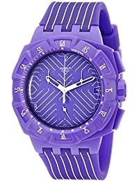 Swatch Ladies Watch Chrono Plastic 2 Purple Run SUIV401