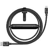 Nomad Battery Cable, Lightning Kabel mit Akku, 1,5m mit 2.350 mAh Akku, schwarz